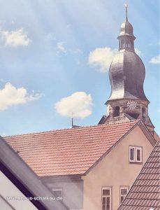 Ferienhaus Christine in Schalkau- Blick auf Johanniskirche in Schalkau