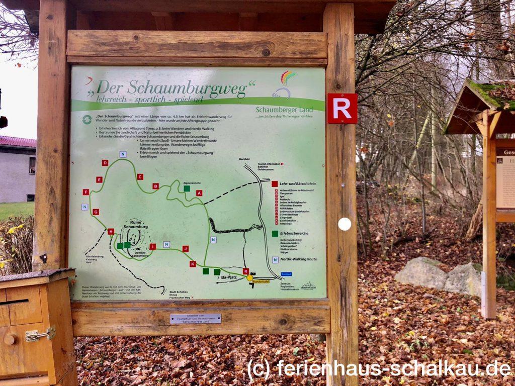 Der Schaumburgweg bei Schalkau